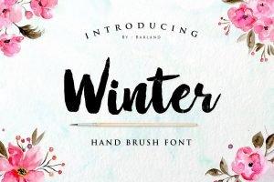 Hand brush font.