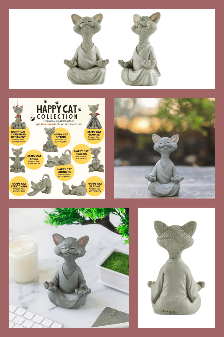 We all dream of catching Zen, and this cat figurine has already found him. A neat statuette in gray color will adorn any interior.