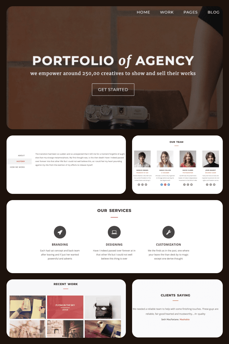 Smart template - with conveniently spaced reading blocks, made in woody color.