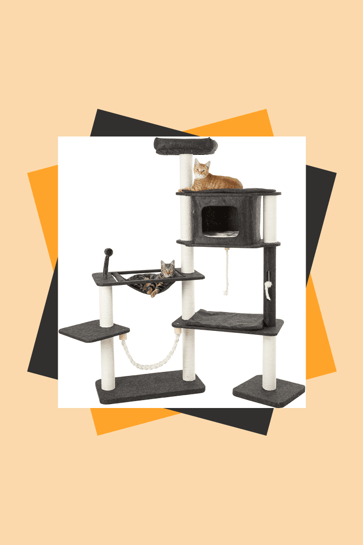 This is a mini cable car for cats. If the activity of your cats is high and there are a lot of them, then this device will save half of the furniture. This is a scratching post, a bed and a toy for more than two cats.