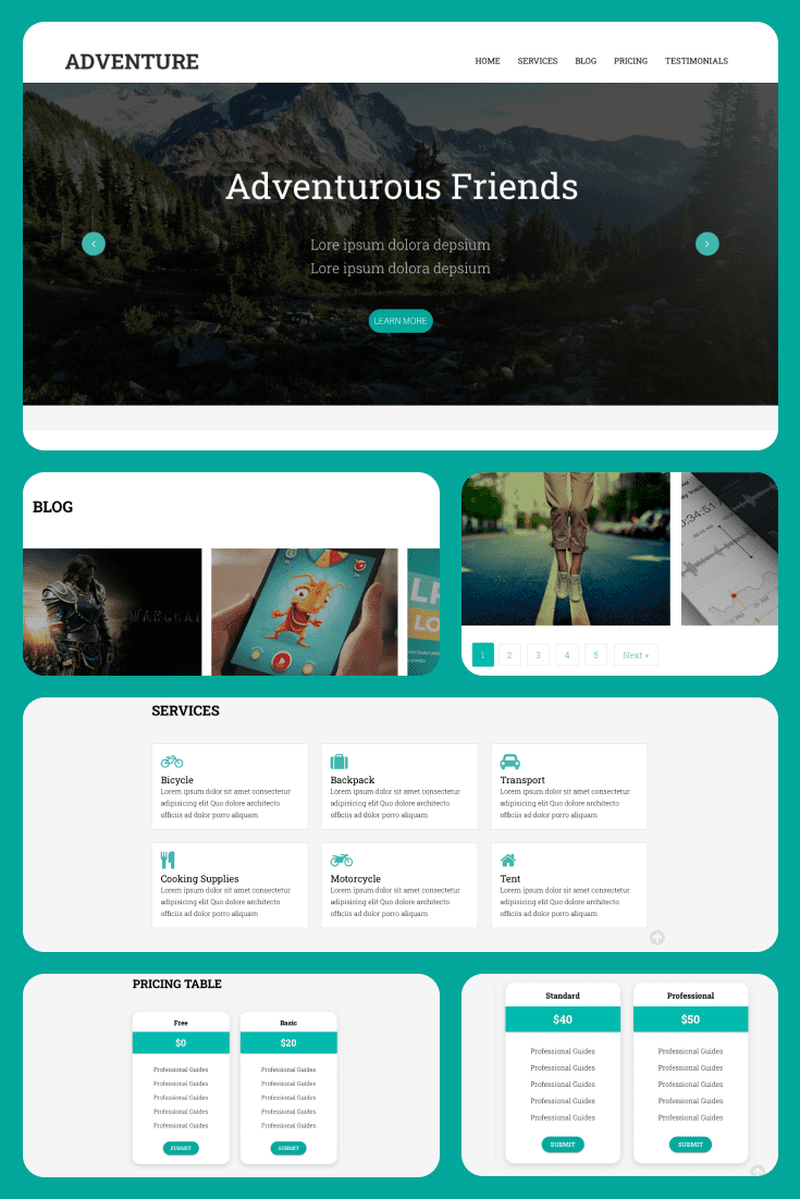 A bit of Tiffany color and sophistication. Fresh design and user-friendly interface. A great option for a travel blog.