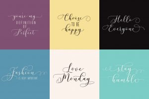 Colorful background for font.