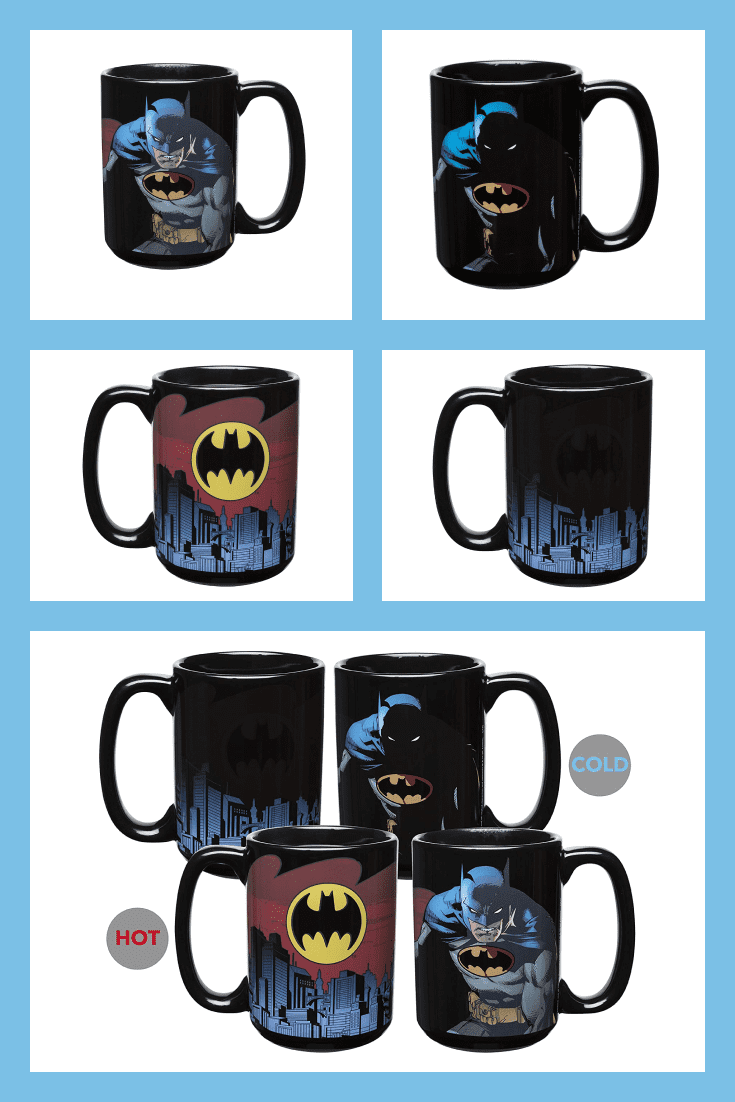 A cup for a real superhero. It depicts Batman with his main symbol. The cup changes color depending on the warmth of the drink.