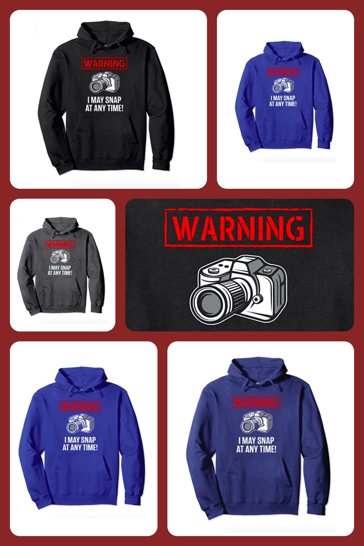 Hoodie with a camera image.