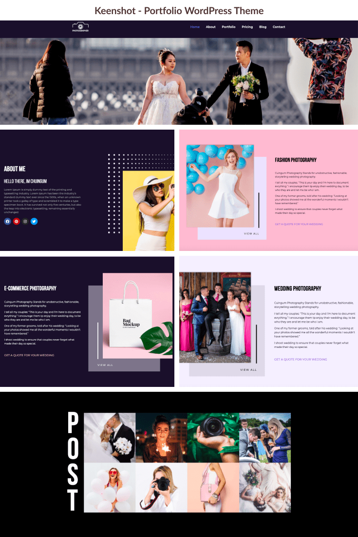 A cute design with a strong theme set is a nice variant for portfolio.