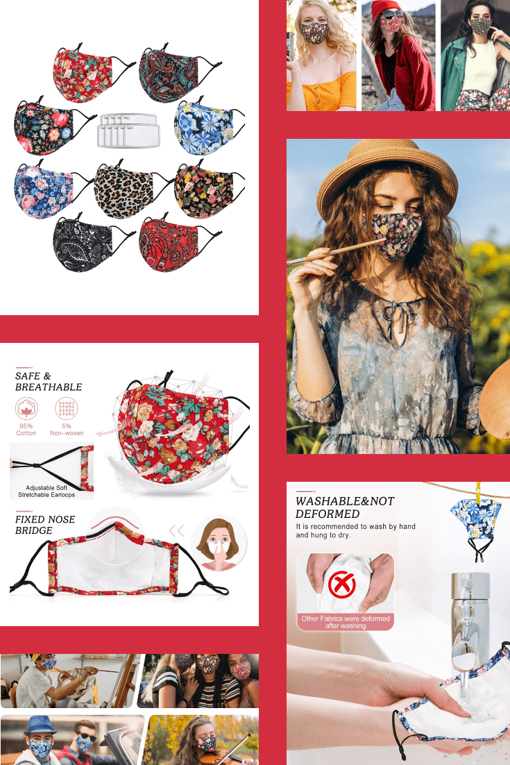 Masks are the trend of the last year. Nowhere without him. Here are bright, floral, summer mask designs.