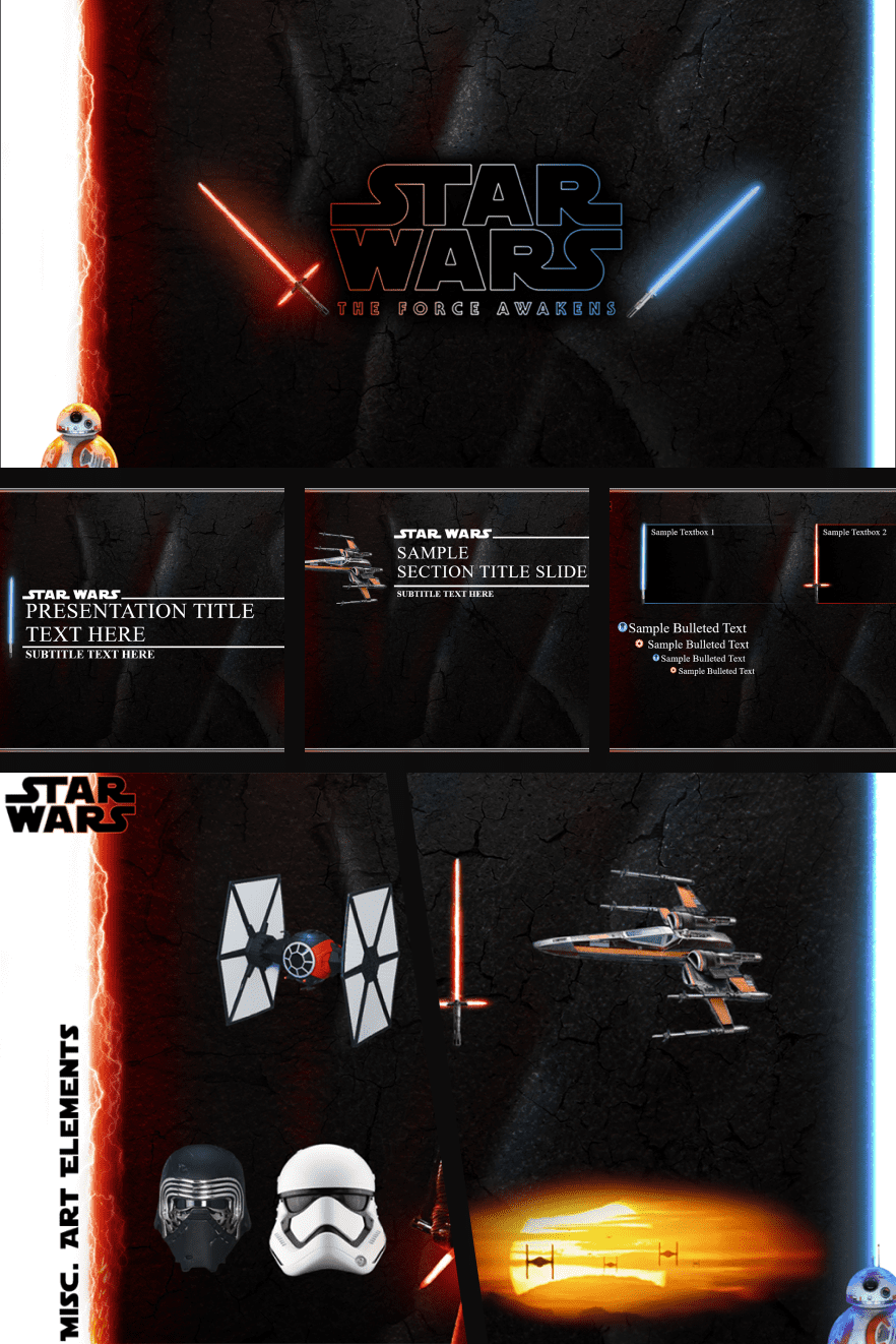 This is a classic Star Wars theme. The design is flexible and multifunctional, which allows you to customize it for yourself.