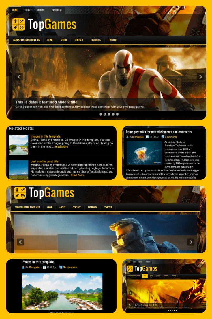 Classic combination of black and yellow; usability - it all includes this layout.