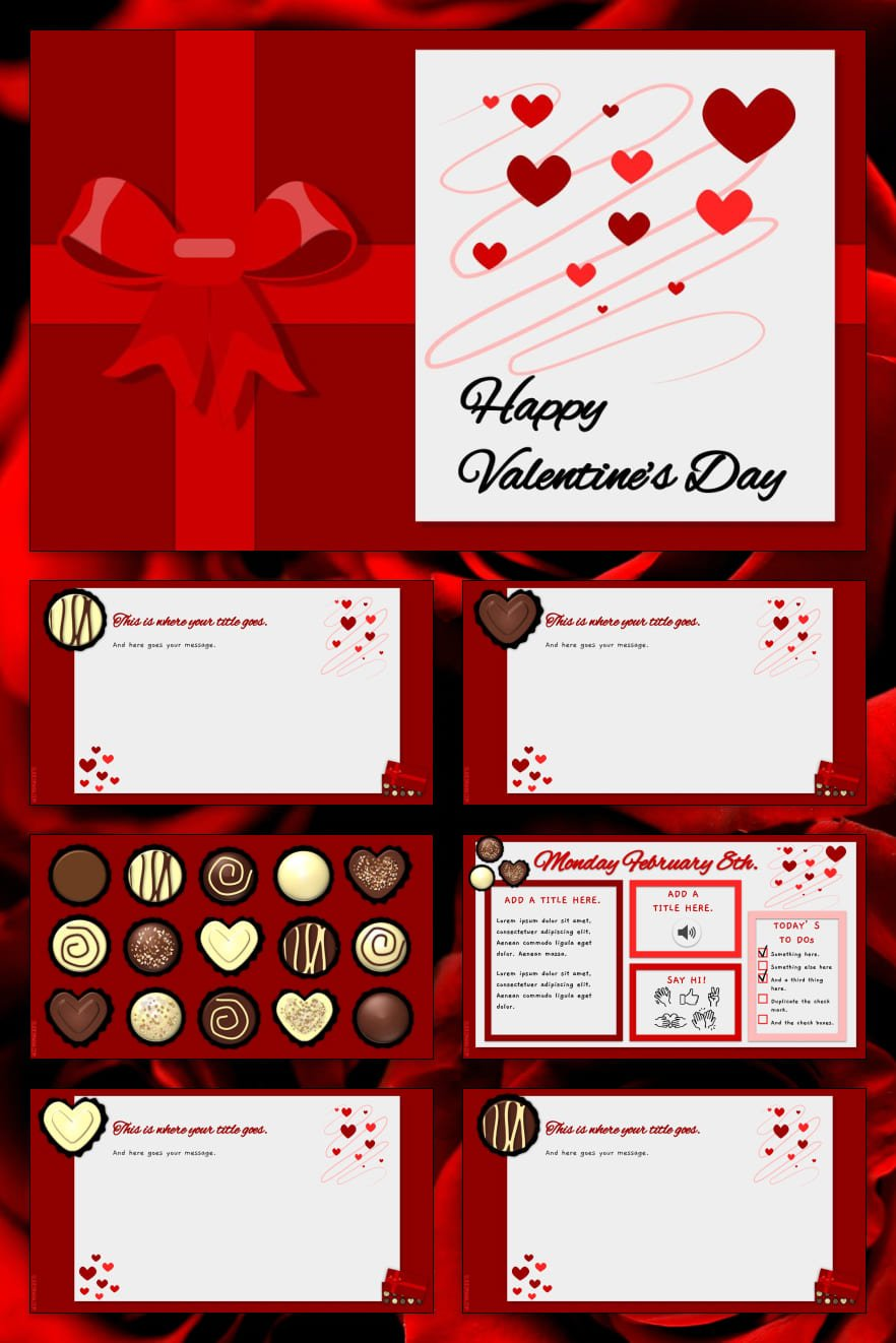 Love saves the world. And this template is your presentation. The heart, red color and cute design will not leave indifferent even an inveterate cynic.