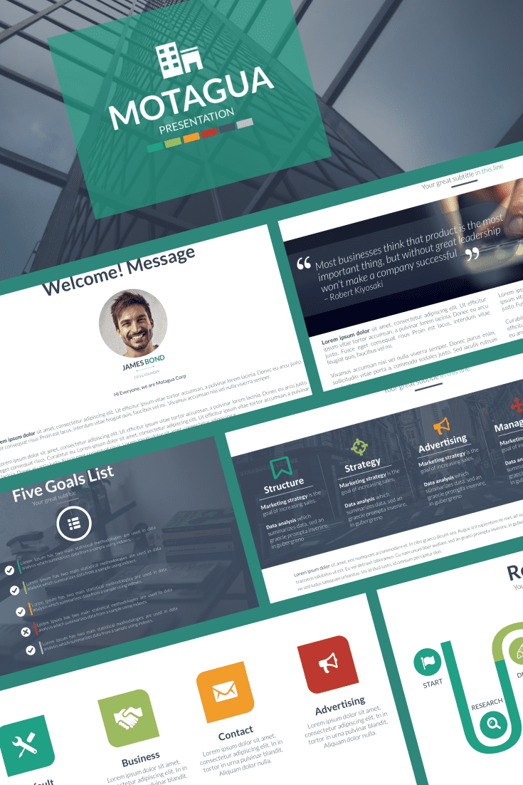 This template is a good option for a business report. The classic design and restraint of colors will not distract from the main idea..