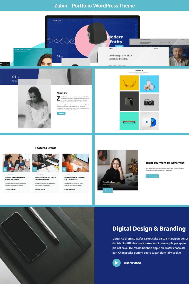 Multi-purpose and elegant template for trendy portfolio.