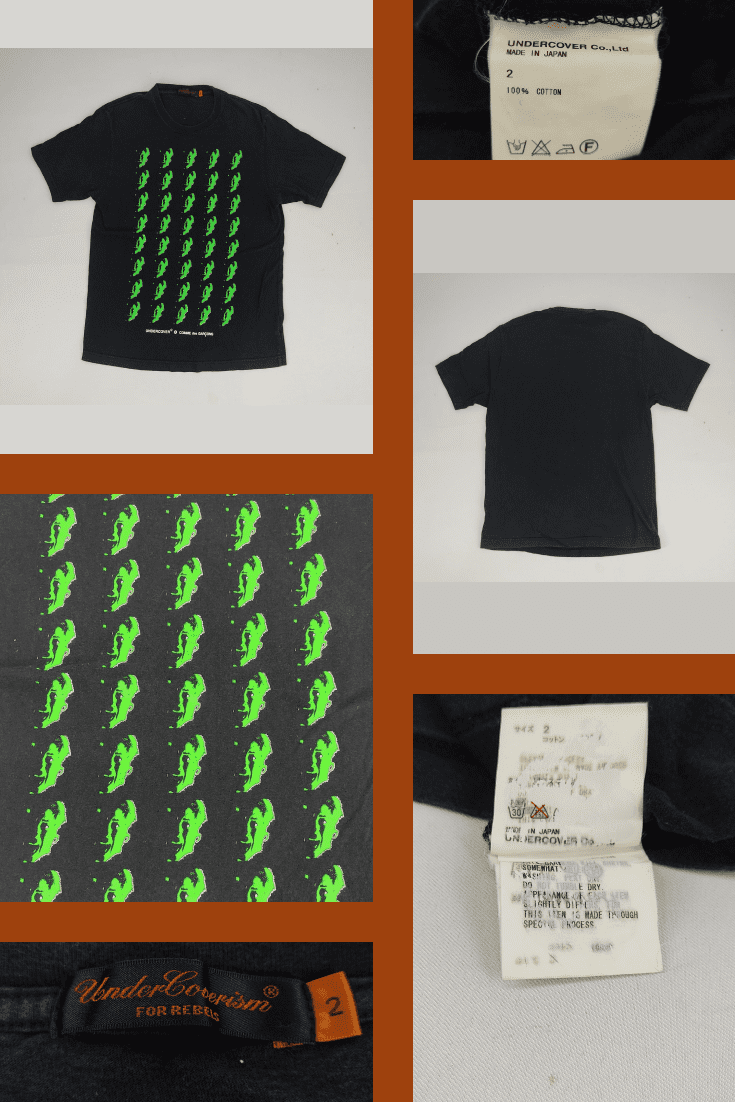 Black men's T-shirt with the image of some green dragons.