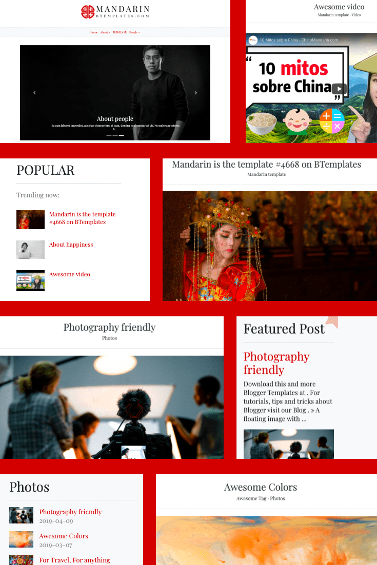 Red is the hit of this season. A perfect page structure with logically spaced blocks will give your blog an edge over the rest.