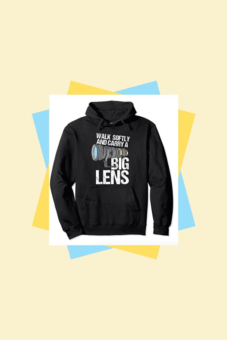 Stylish dark hoodie.
