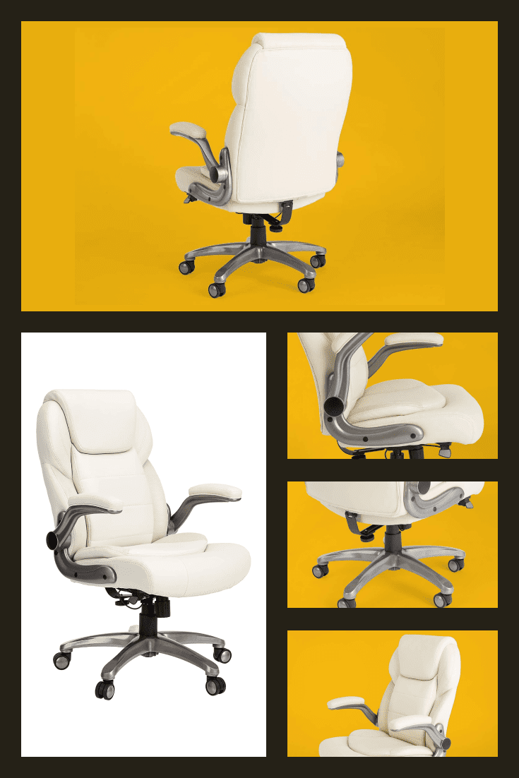 White work chair. It is designed to make your everyday work more comfortable.