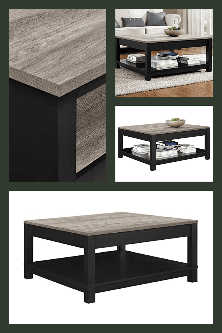 Stylish and fashionable table in the living room. It is perfect for any interior, as it is created in light dark colors.