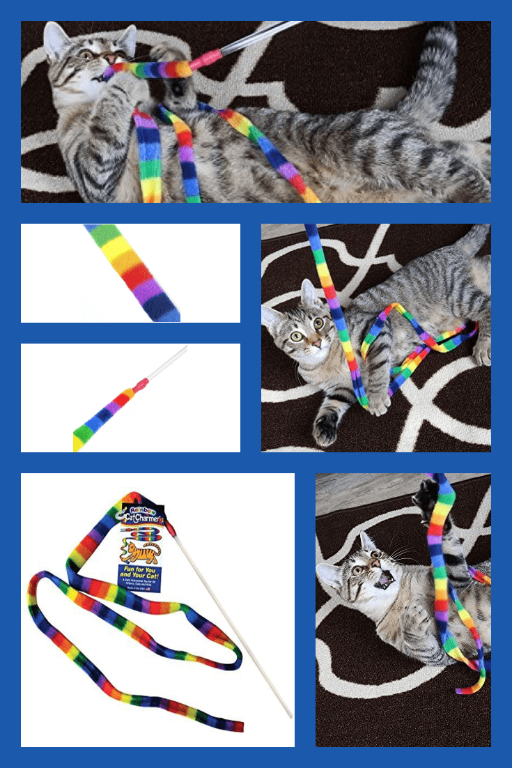 The multi-colored rope for cat games will keep your cat enthralled for a long time.