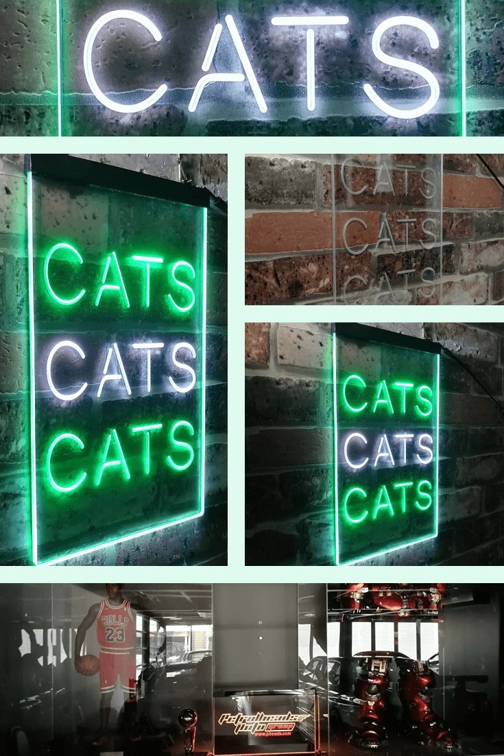 A neon sign will brighten up even the most boring interior. Both grandmother and friend will like it.