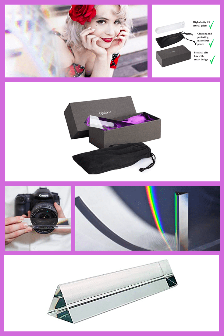 Photography Prism with Cleaning Pouch.