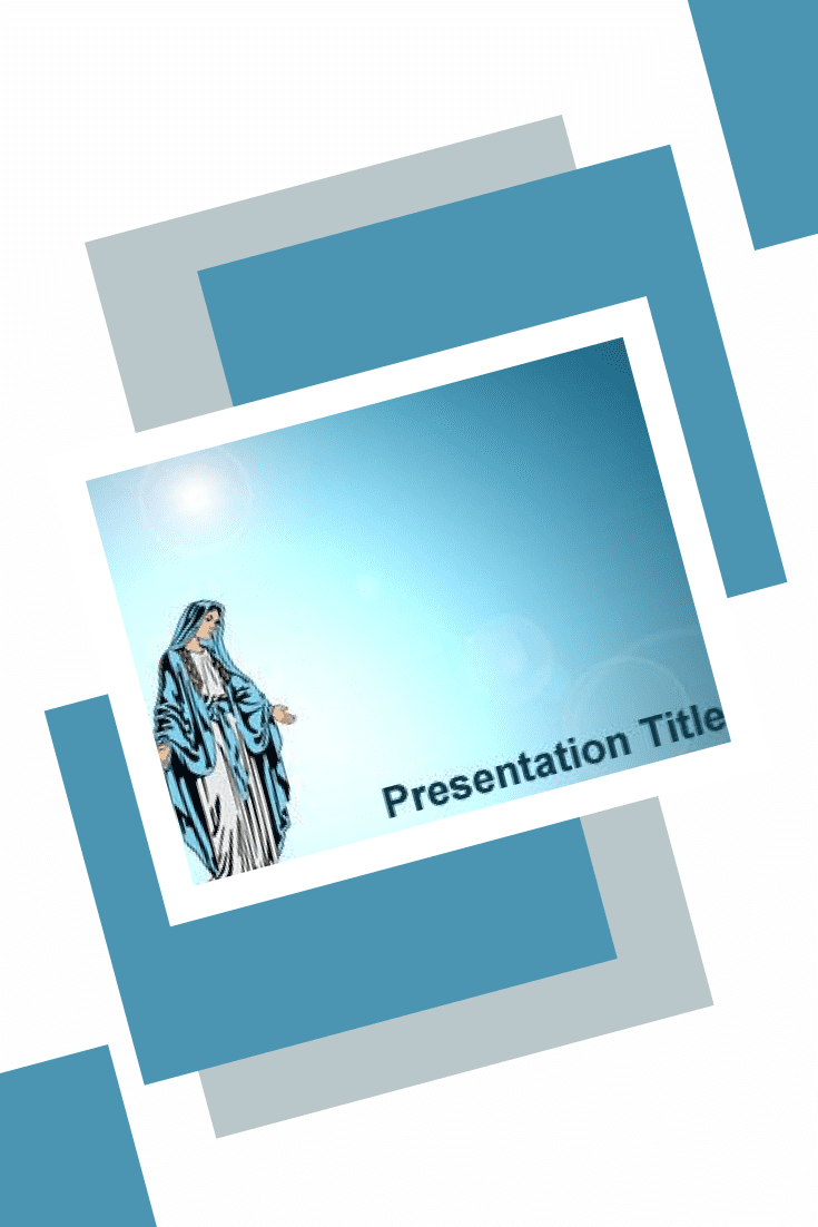 It can be used to create presentations on verses from the Bible or miracles of the Virgin Mary.