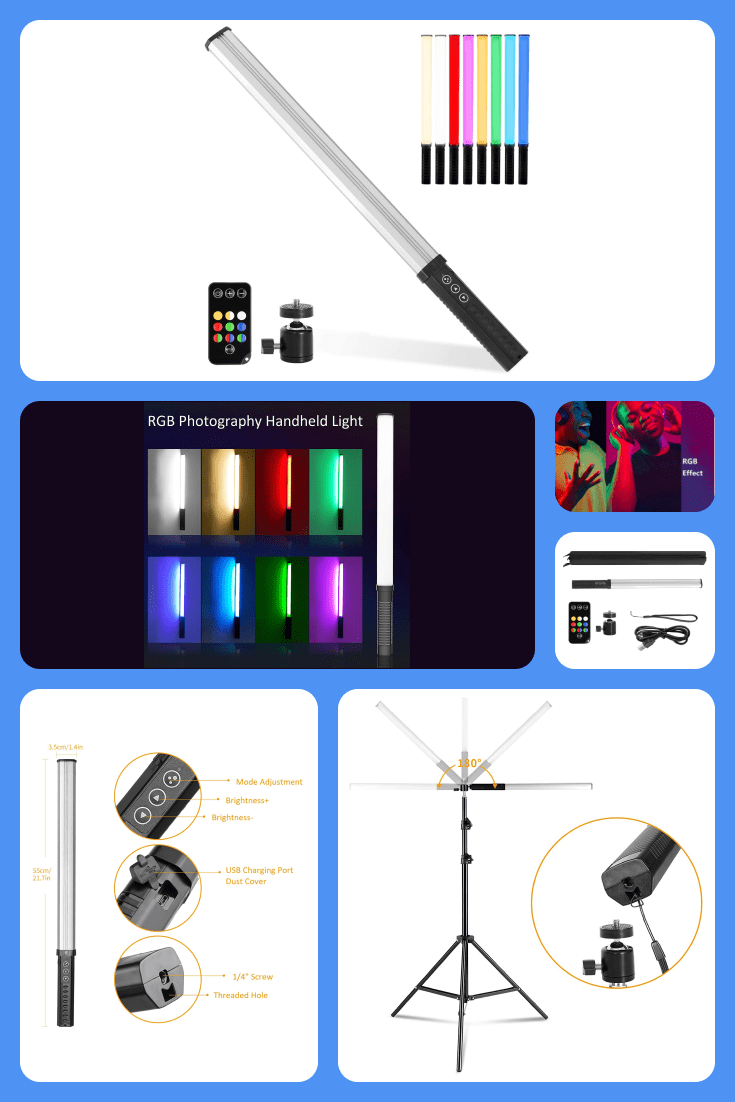 Led lamp with 9 different colors.