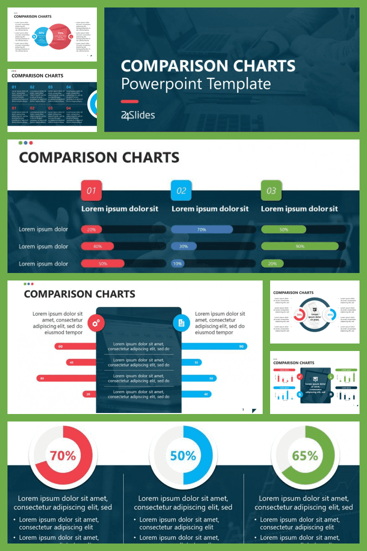 Template with visual infographics. Here any complex text turns into wonderful diagrams and pictures that reflect its essence.