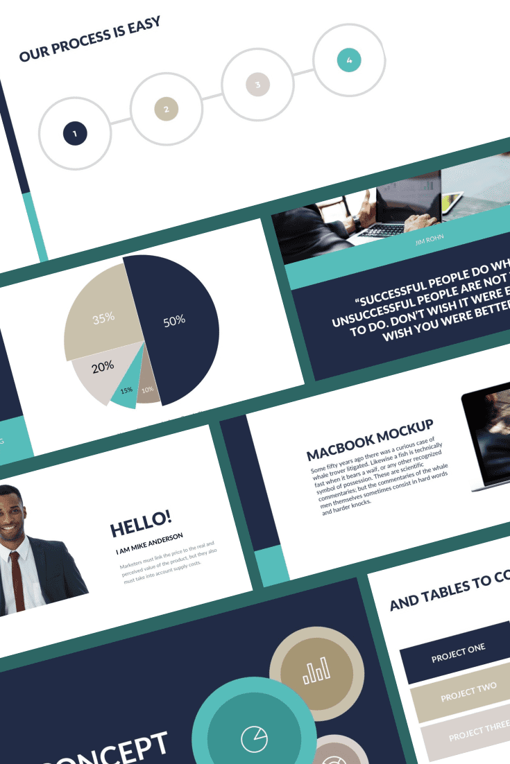 Consistent high-quality colors, variety of infographics and combined with flexible design will give your presentation an edge over the rest.