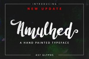 A new handmade brush script.