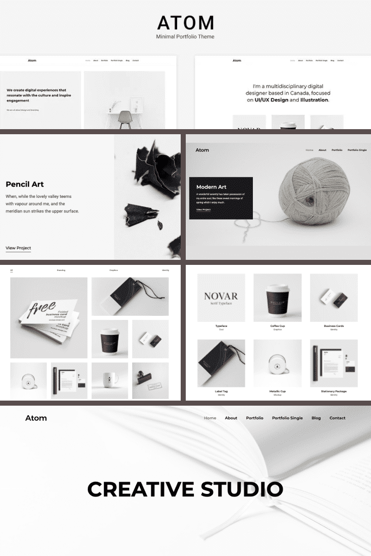 Quality and stylish template have a lot of blocks for your photos.