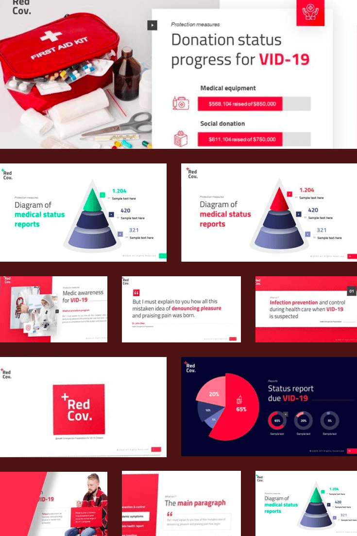Colorful designs and lots of infographics help communicate a complex topic in an easy way.
