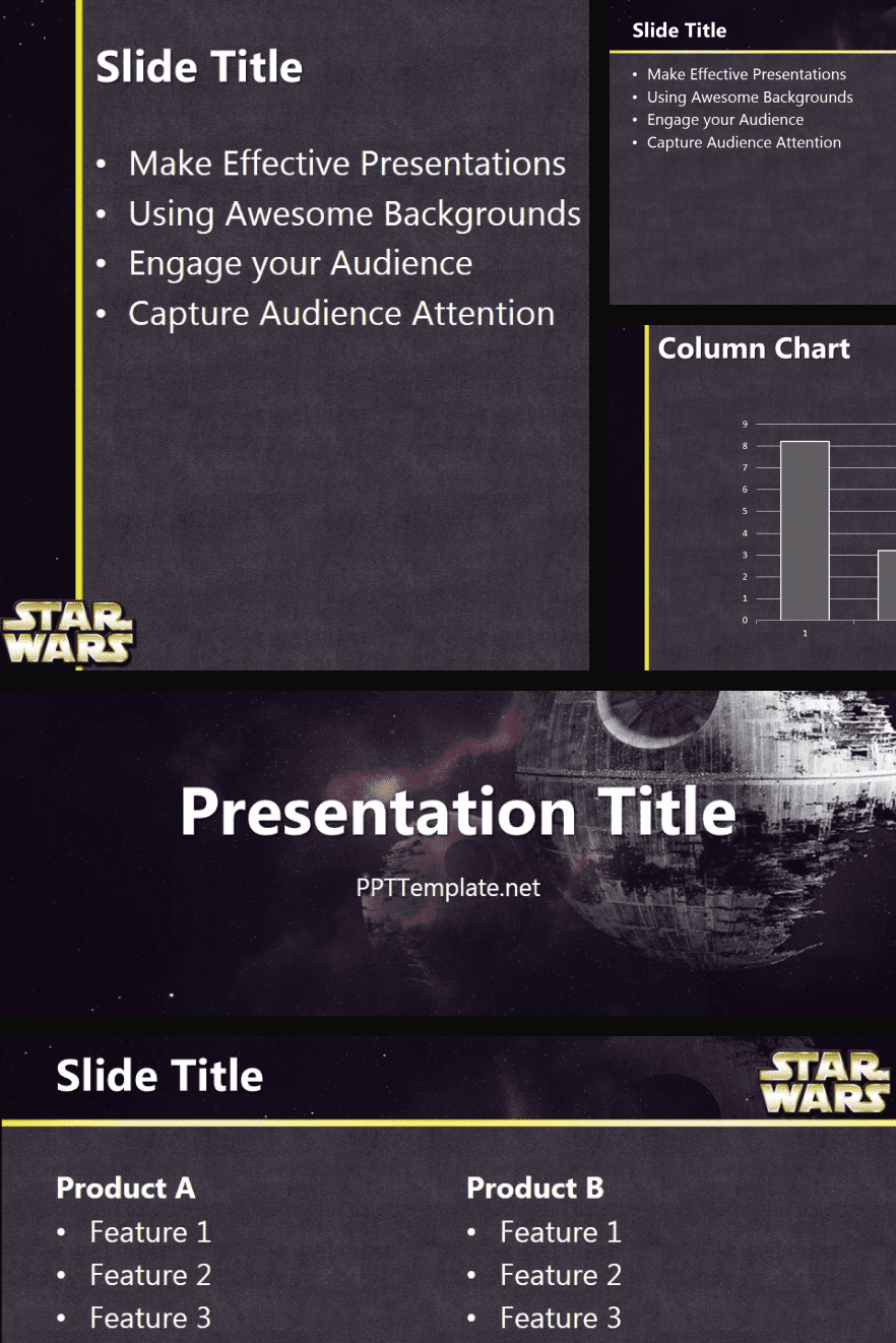 A graphically laconic theme in a gray shade. Allows you to organize information and present it in a simple format.
