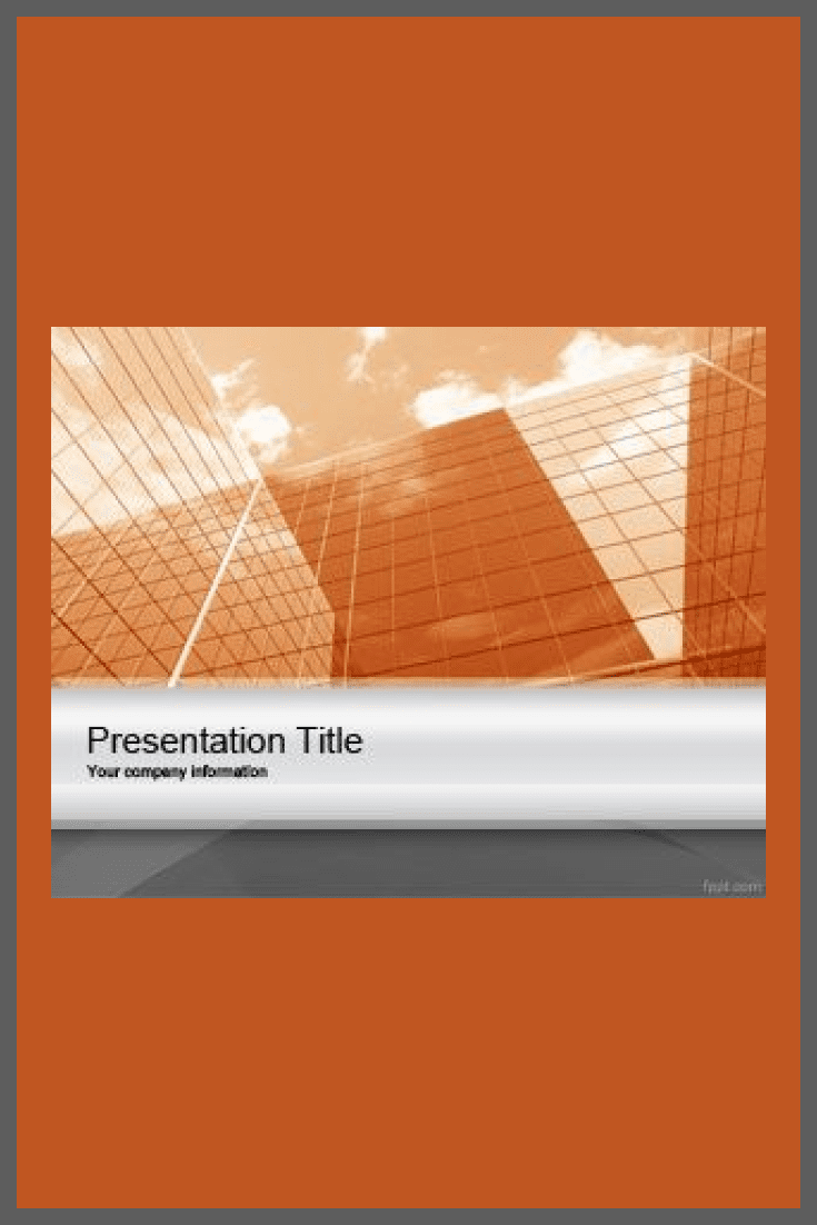 The orange background of the template immediately orients to something pleasant and warm. With such vibrant colors, your presentation will stand out.