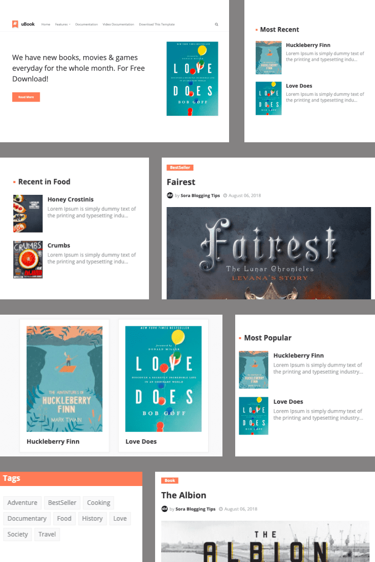 Colorful and simple design for book trading.