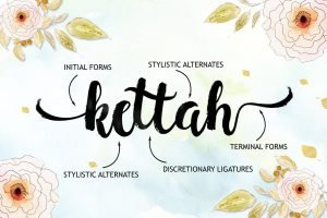 Modern and creative calligraphy typeface.