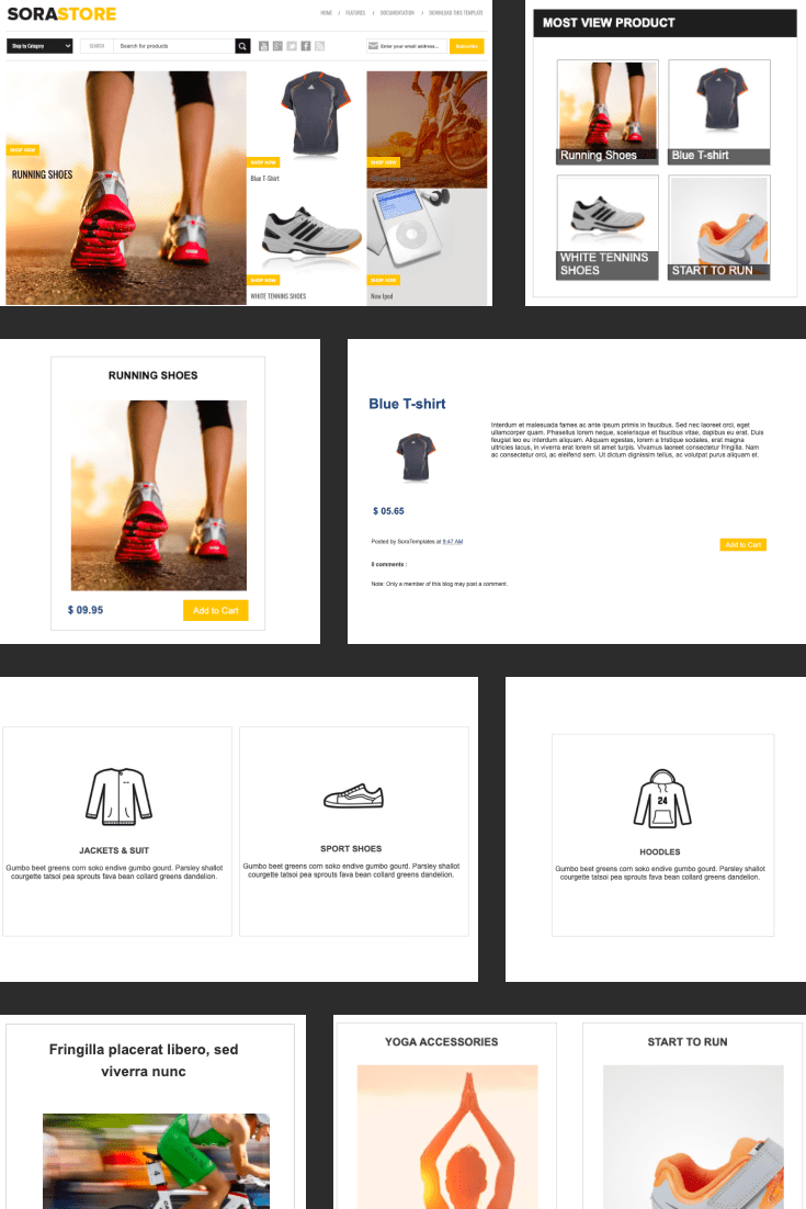 A clean and user-friendly theme for selling sporting goods.
