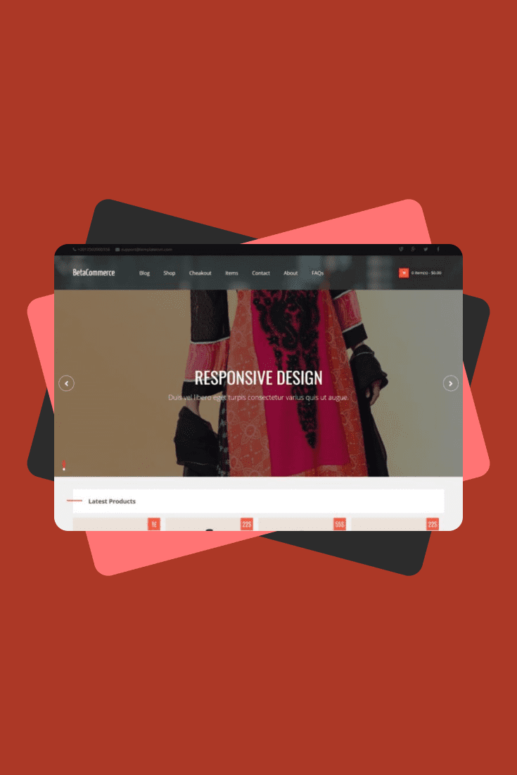 The red palette will tell your customers about passion and total commitment. This theme is for the bold and stylish.