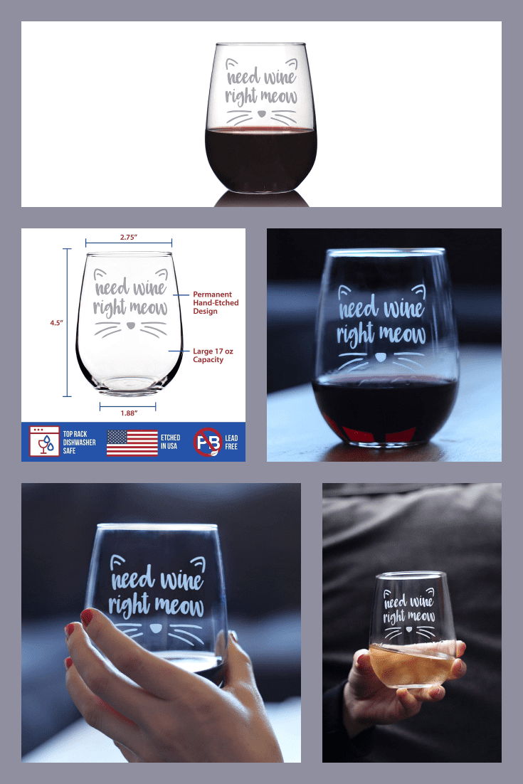 Transparent stylish wine glass without stem. Better to give with a kit to create a symbiosis.