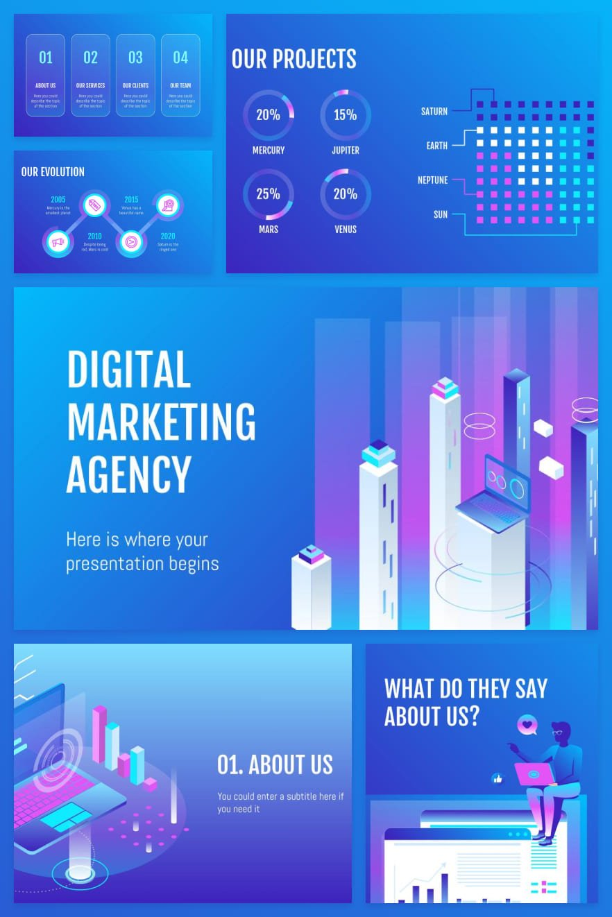 A spectacular template in vibrant colors. Infographics make complex information simple and accessible. And the flexible design allows you to customize the style for yourself.