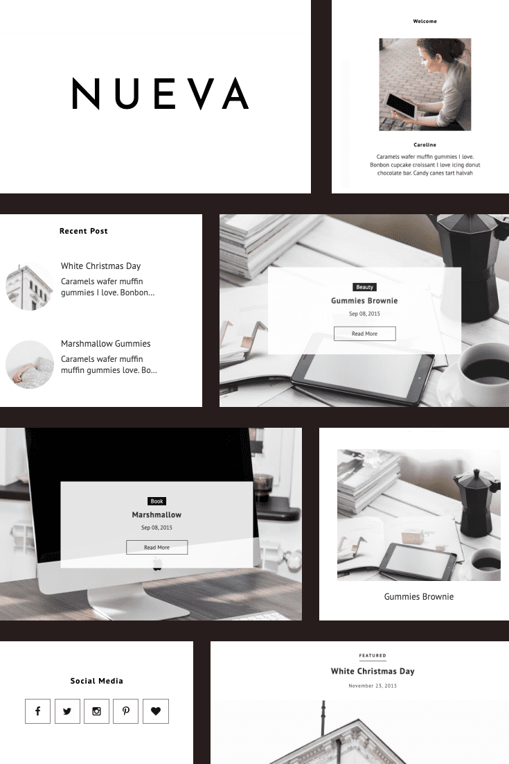 Theme in English style. A discreet classic with seasoned colors. Make your blog stylish and tasty for others.
