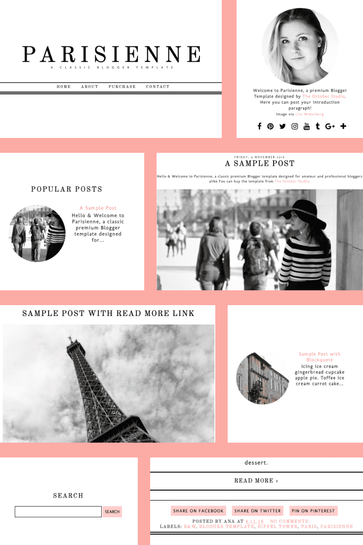 Travel blog in pastel colors. Here you can fit a lot of information and wrap it in beautiful packaging thanks to its flexible design.