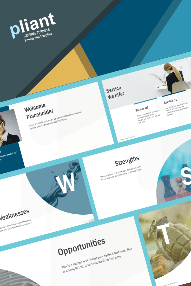 It is flat vector shapes and graphics that could be used in type of industry presentations. The template will help business professionals to design introduction or project pitch effortlessly.