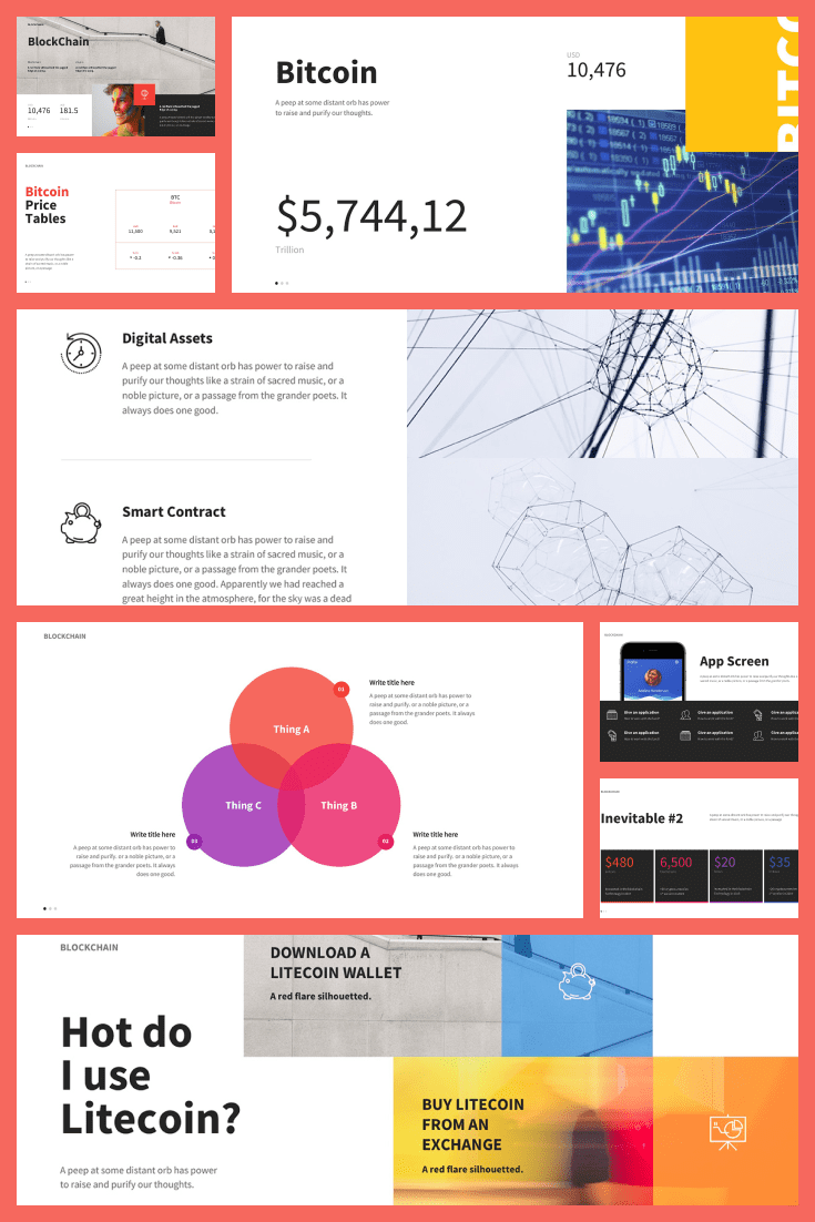 Wow your audience when you use the beautiful, colorful, and creative Bitcoin Finance Powerpoint Template. Because of the bright colors, the information presented to the audience stands out when you use this Powerpoint template.