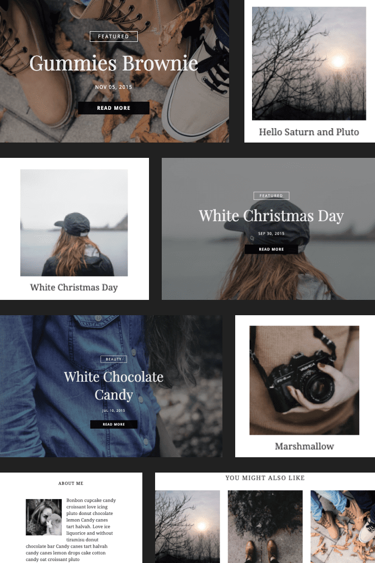 Colors will create your artwork. If you love taking pictures and want to share your work, then this template is the solution.