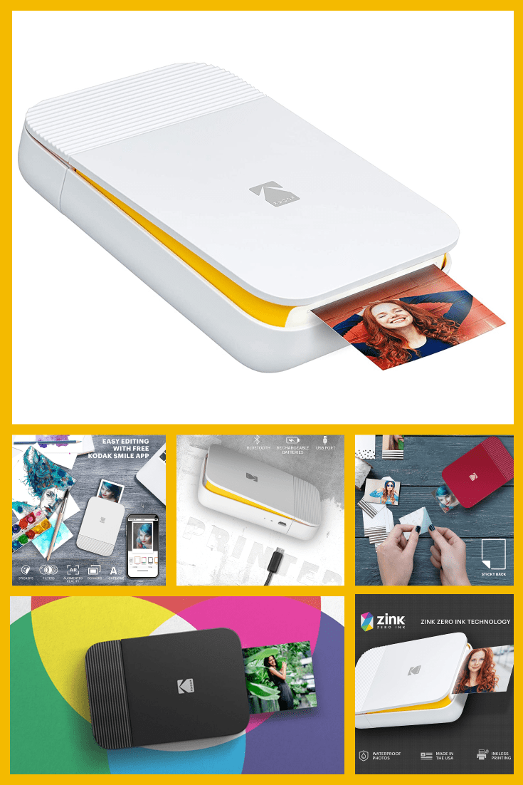 Mini printer of instant printing. A great option for travel and printing photographs for clients to remember.