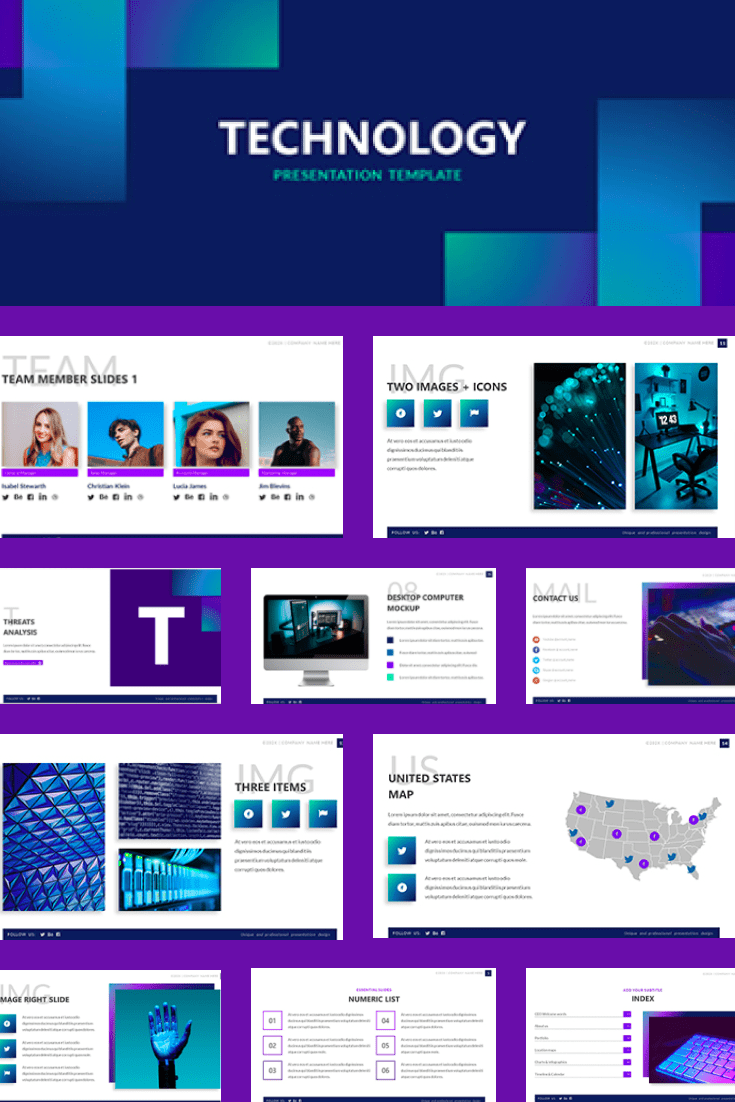Bright and extraordinary. A bold template will dilute the complexity of the topic and bring its own colors to the presentation.