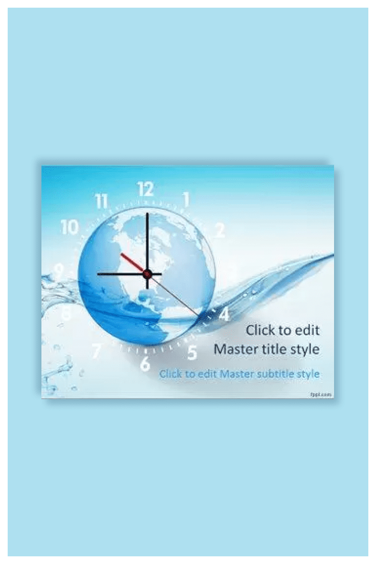 This template with nice Earth globe background and clock illustration. This is a great theme to make presentations on global topics.