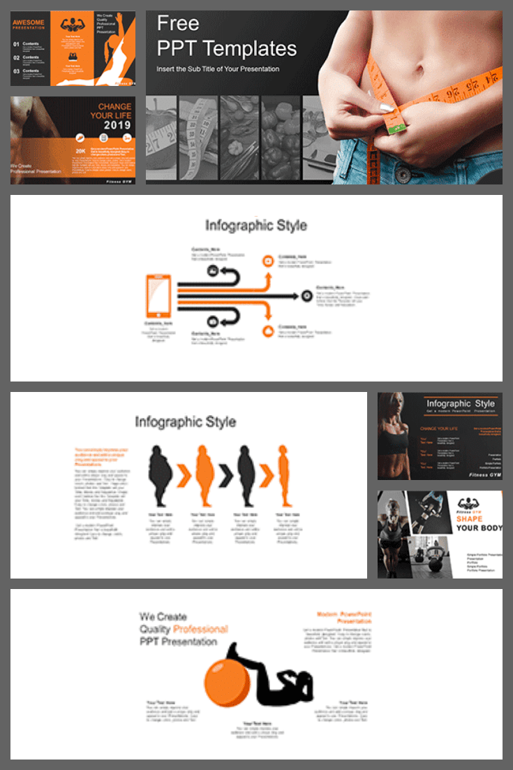 The topic of a healthy lifestyle is gaining momentum. This template is bright and simple with lots of visual graphics.