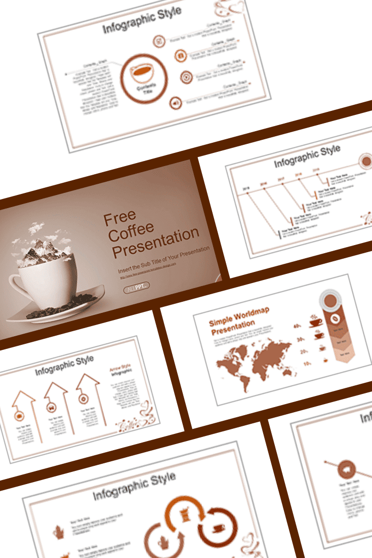 Template for coffee lovers. In it you can tell everything about your favorite drink: where it comes from, how to cook it correctly, pricing, etc.