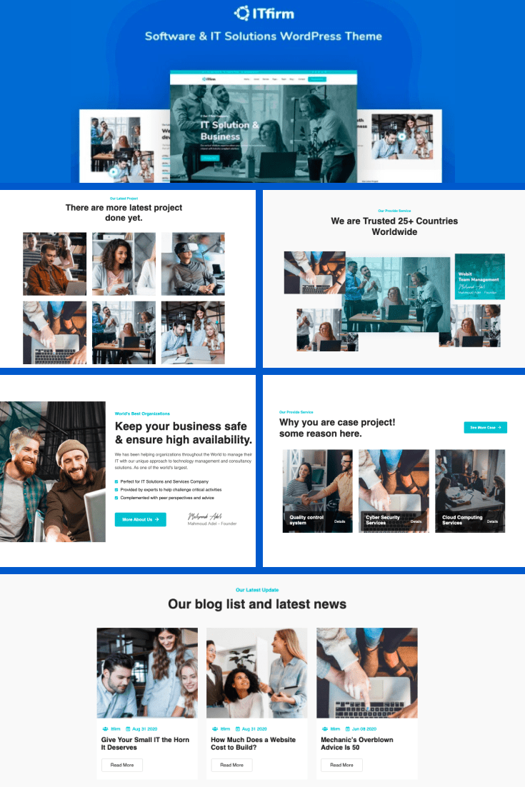 This is flexible template which you can customize in your way.