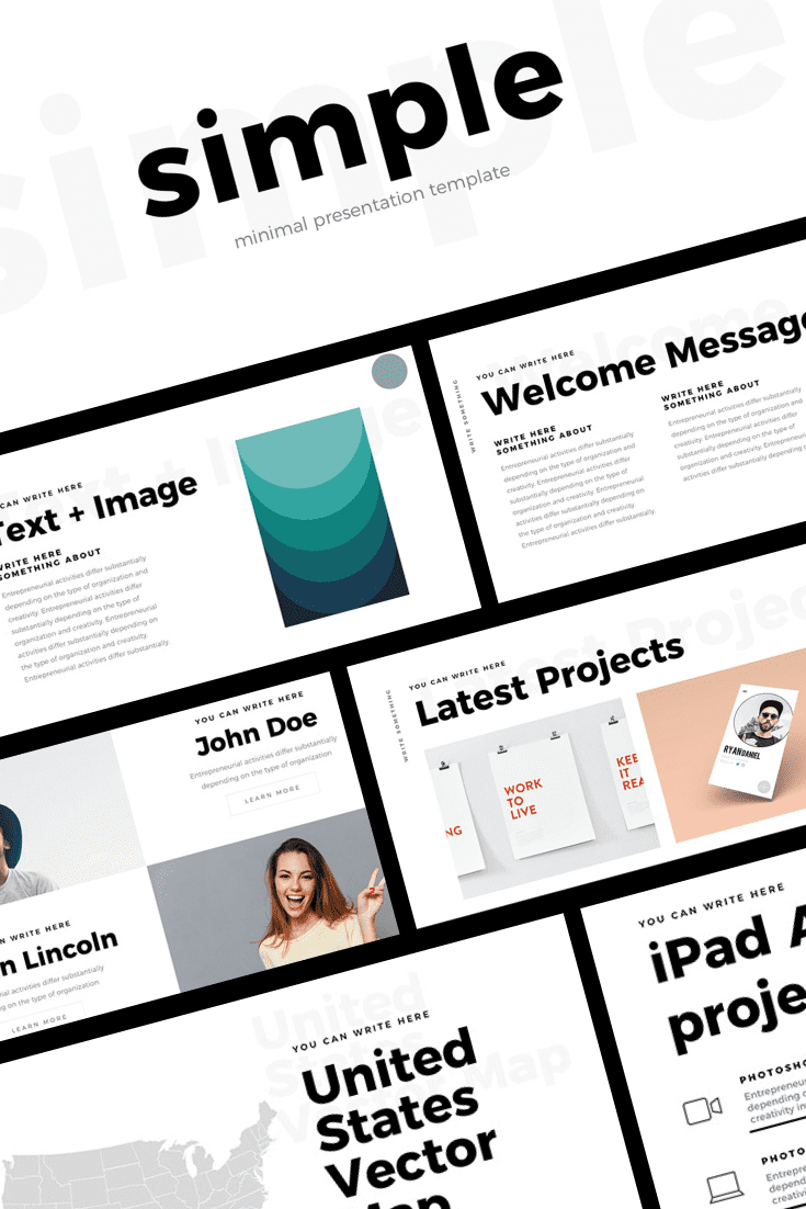 Simple and light template. It contains everything you need for a successful presentation.